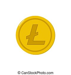 Litecoin coin icon isolated on white background