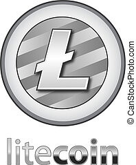 Litecoin Cryptocurrency Coin Sign Isolated