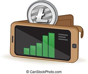 Litecoin Digital Wallet - Litecoin Cryptocurrency Coin...