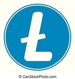 Litecoin icon on white. - Litecoin icon on white background....