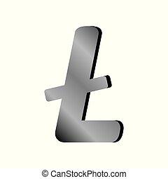 Litecoin sign on white. - Litecoin sign on white background....