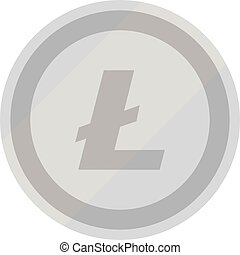 Litecoin symbol vector - Litecoin. Lite coin. Digital...