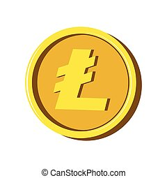 Litecoin virtual money. Cryptocurrency. Vector illustration...
