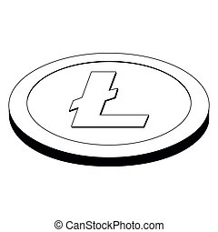Litecoin virtual money currency. Cryptocurrency. Vector...