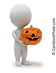 liten, -, 3, halloween, folk