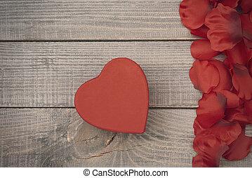 liten, dag, gåva, valentinkort