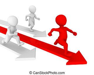 liten, folk., ledarskap, concept., 3