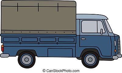 liten, gammal lastbil