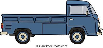liten, lastbil, klassisk