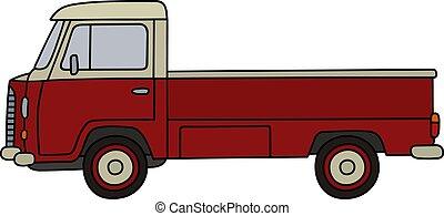 liten, lastbil, retro