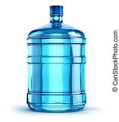 liter, 19, bebida, plástico, agua, 5, botella, galón, o