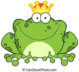 litera, książę, żaba, rysunek