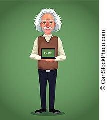 litera, naukowiec, zielony, deska, tło, formułka, fizyczny