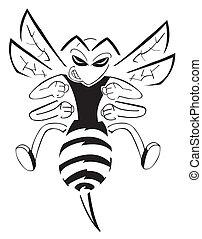 litera, pszczoła