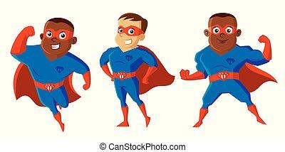litera, rysunek, superheroes
