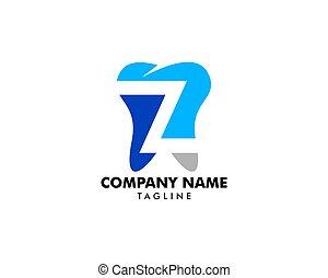 litera, szablon, projektować, ząb, element, z, logo