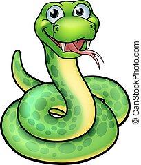 Rysunek, przyjacielski, wąż. Litera, rysunek, ilustracja, wąż.
