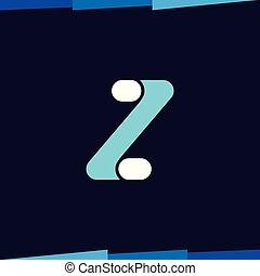 litera, wektor, szablon, logo, z, ikona