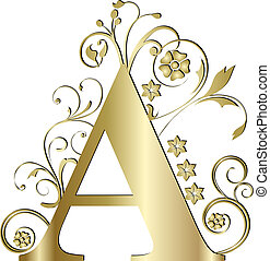 litera, złoty, kapitał