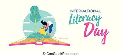 Literacy Day web banner for world education