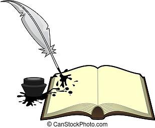 literatura, libro