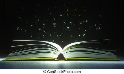 literatura, parować, mysteriously, book., jarzący się, ożywienie, powinowaty, beletrystyka, czytanie, otwarty, albo