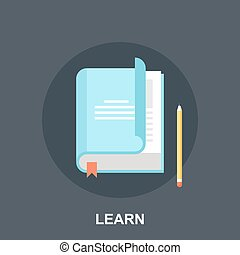 Literature - Vector illustration of learn flat design...