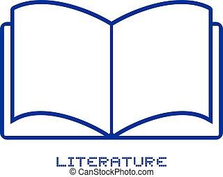 literature icon design - Creative design of literature icon