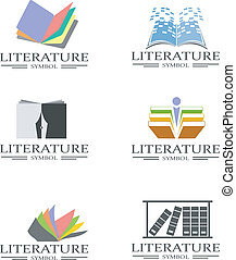 Literature icons - An illustration of literature and...