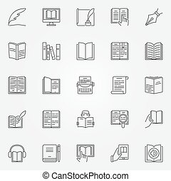 Literature icons set