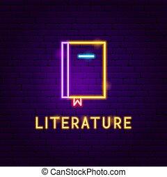 Literature Neon Label