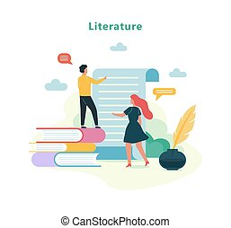 Literature school subject. Idea of education and knowledge