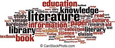 Literature word cloud concept. Vector illustration