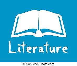 literatuur, pictogram