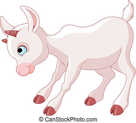 litet, baby, goat