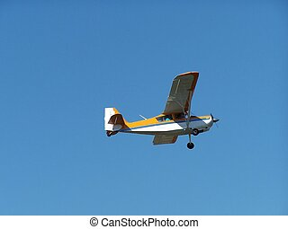 litet, gul, airplane