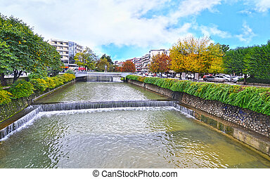 Lithaios river at Trikala Thessaly Greece - Lithaios river ...