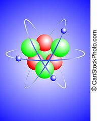 lithium, 原子, イラスト, ベクトル