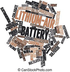 Lithium-air battery - Abstract word cloud for Lithium-air...