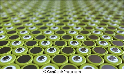 Lithium-ion batteries, loopable motion background