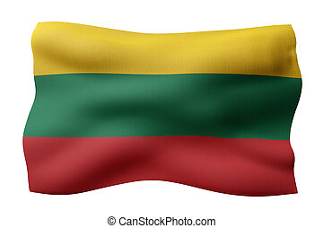 Lithuania 3d flag