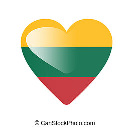 Lithuania 3D heart shaped flag
