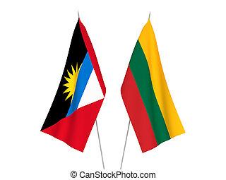 Lithuania and Antigua and Barbuda flags - National fabric ...