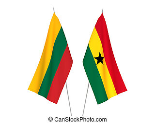 Lithuania and Ghana flags - National fabric flags of ...