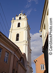 Lithuania capital Vilnius old town
