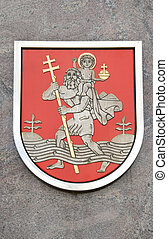 Lithuania capital Vilnius town symbol