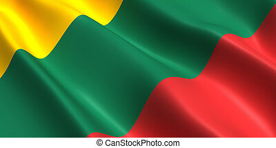 Lithuania flag 3d