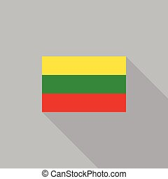 Lithuania flag flat design vector illustration