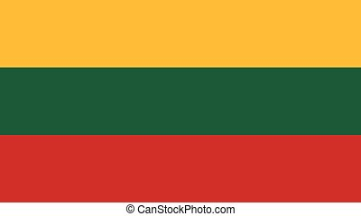 lithuania Flag for Independence Day and infographic Vector illustration.