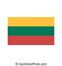 Lithuania flag illustration